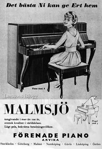 Malmsjo piano advertentie