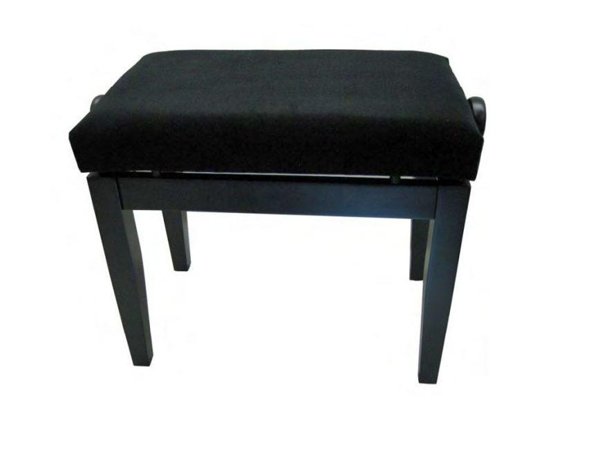 Pianobank B502 zwart mat